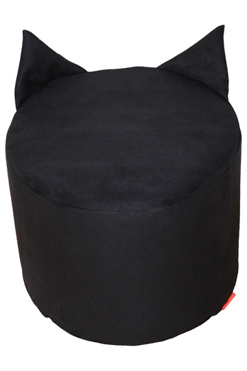 """BatCat"" pouf, black"