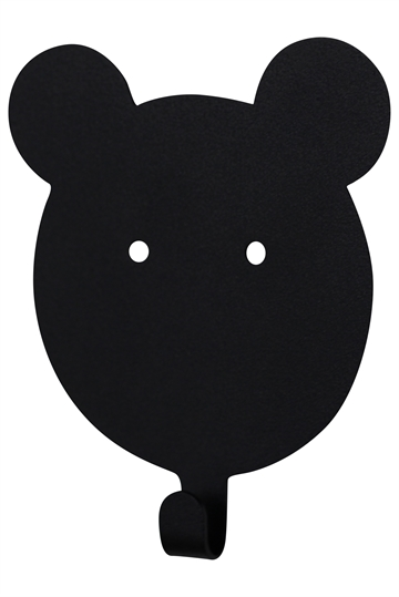 Wall hook Teddy - black